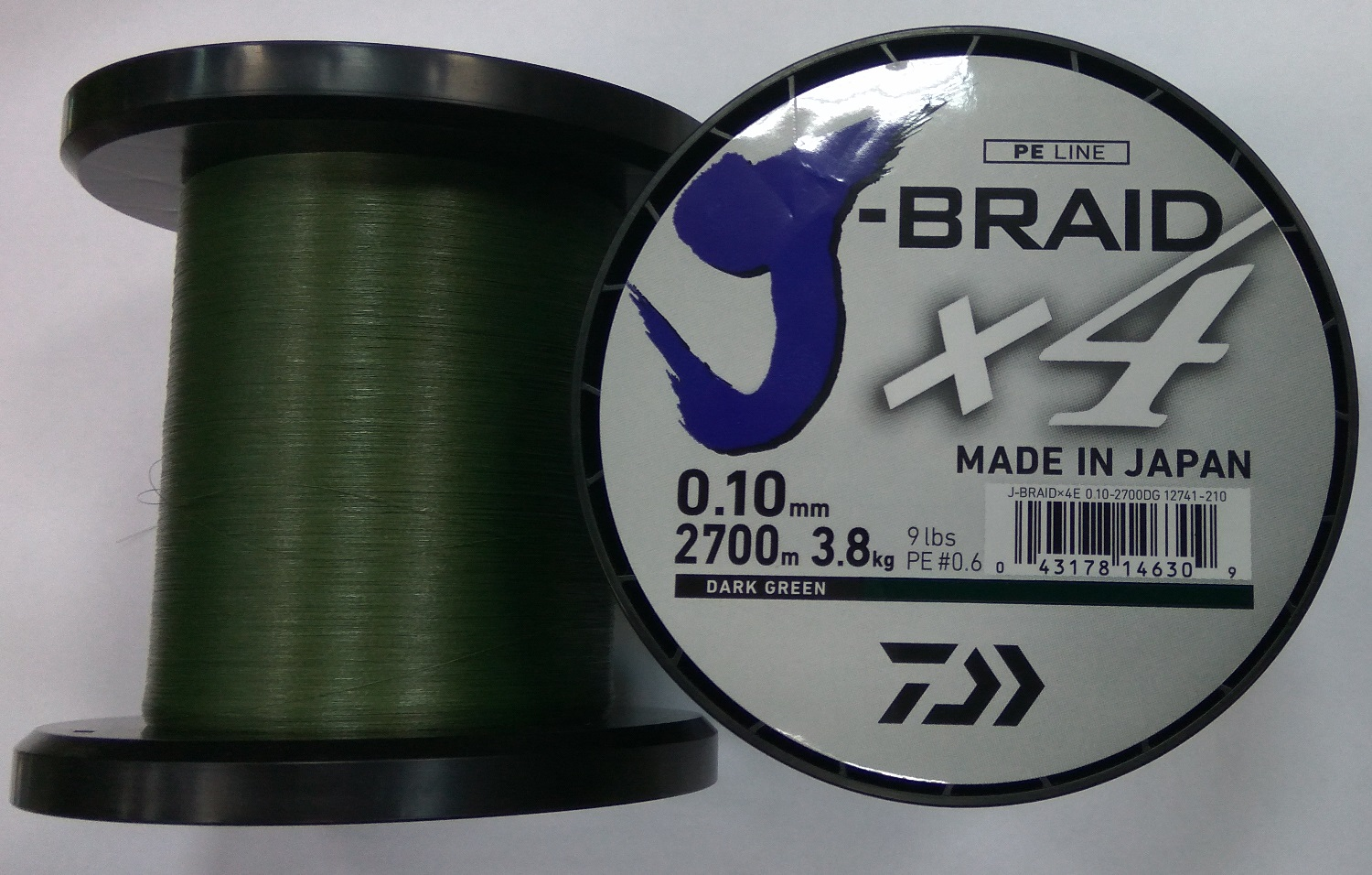 Daiwa J-Braid X4 Zöld